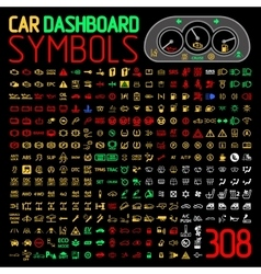 Collection of car dashboard panel vector