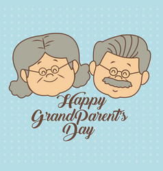 color dotted background card with faces elderly vector image