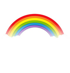 Colorful Rainbow With Clouds vector