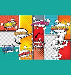 comic sound effect speech bubble pop art vector image