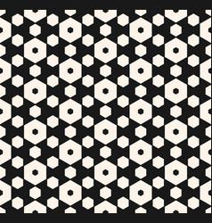 Dark hexagon seamless pattern with honeycomb vector