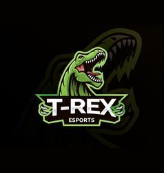 dinosaur sport mascot logo design vector image