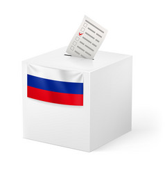 Election in russian federation ballot box with vector