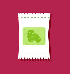Flat icon design collection potato seeds in vector