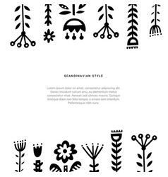 Folk art elements vector