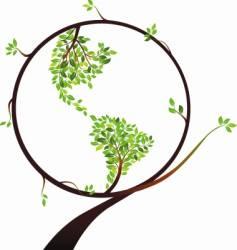 Globe tree vector