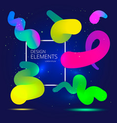 gradient design elements vector image