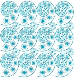 Graphic blue waves of geometric shapes vector image