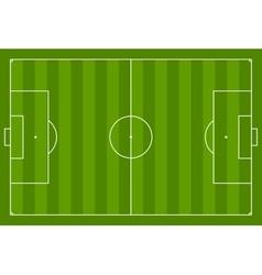 Green soccer field background vector