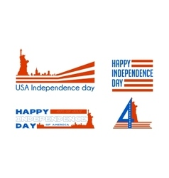 happy independence day card united states vector image