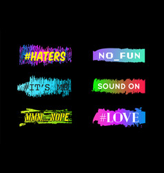 hashtag with colorful backdrop graphic icon vector image