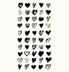 heart shapes collection vector image