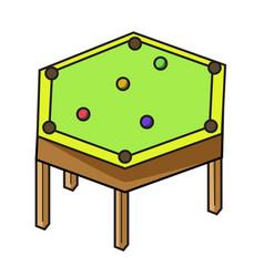 hexagon pool table pool table variation vector image