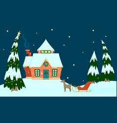 house of santa claus vector image