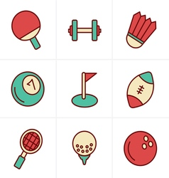 Icons Style Sport icons Set Design vector image