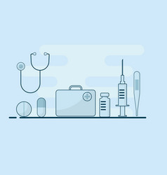 medical equipments supplies flat design vector image