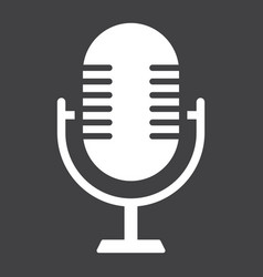 microphone solid icon studio and sound vector image