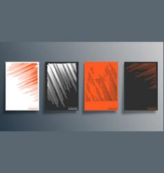 minimal halftone design for flyer poster vector image