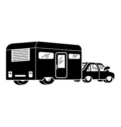 Motorhome icon simple style vector