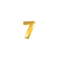 Number 7 3d template design vector