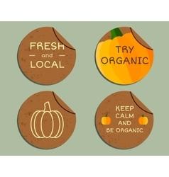 Organic farm corporate identity design with vector
