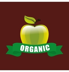 Organic food product vector
