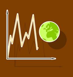 Paper sticker on theme arabic business world vector