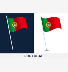 portugal flag waving national flag vector image