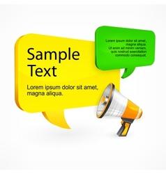 Promo speech bubble with text megaphone vector
