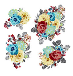 roses floral bouquet vector image