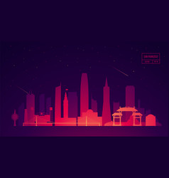 San francisco skyline building vector
