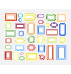 set colored frames vector image