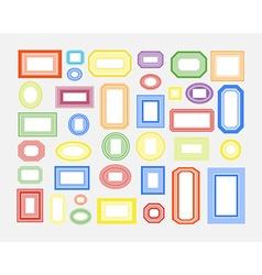 set colored frames vector image
