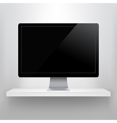 Shelf With Computer vector image