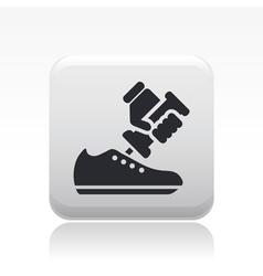 Shoe repair icon vector