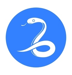 Snake icon black Singe animal icon from the big vector