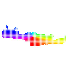Spectrum dotted crete island map vector
