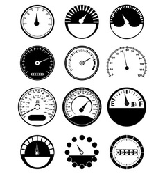 Speed meter icons set vector