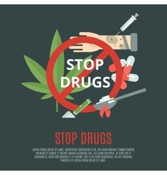 Stop Drugs Concept vector