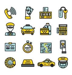 Taxi Icon Set vector image