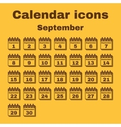 The calendar icon September symbol Flat vector image