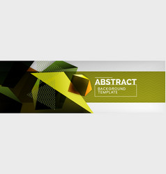 triangular 3d geometric shapes composition vector image