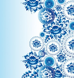 Vintage shabchic ornament with blue flowers and vector