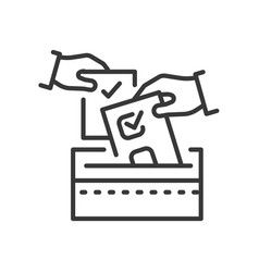 voting - line design single isolated icon vector image