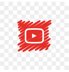 Youtube social media icon design template vector