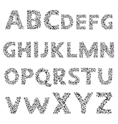 Hand drawn decorative textured alphabet vector image