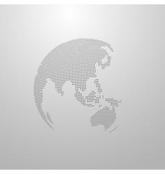 a world globe map vector image vector image
