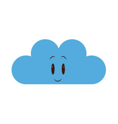 Kawaii cloud weather climate meteorology icon vector