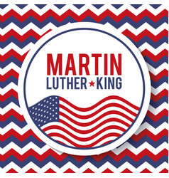 Martin luther king badge national liberty symbol vector