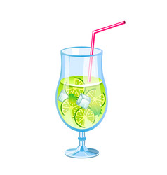 mojito fresh cocktail vector image vector image